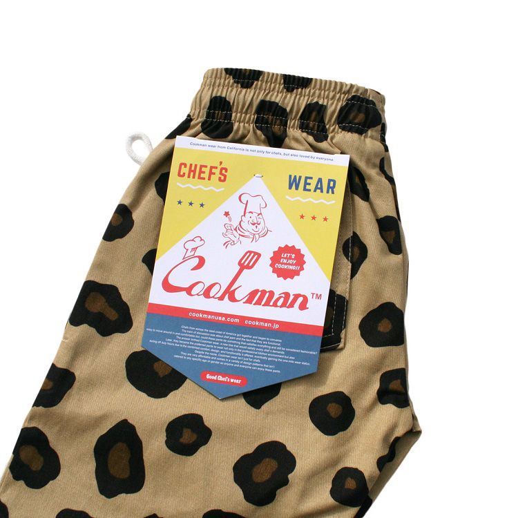 Chef Pants Kids 「Big Leopard」