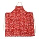 Long Apron 「Paisely」  red