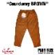 シェフパンツ Chef Pants Corduroy Brown Plus Size