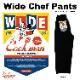 ワイドシェフパンツ Wide Chef Pants Black