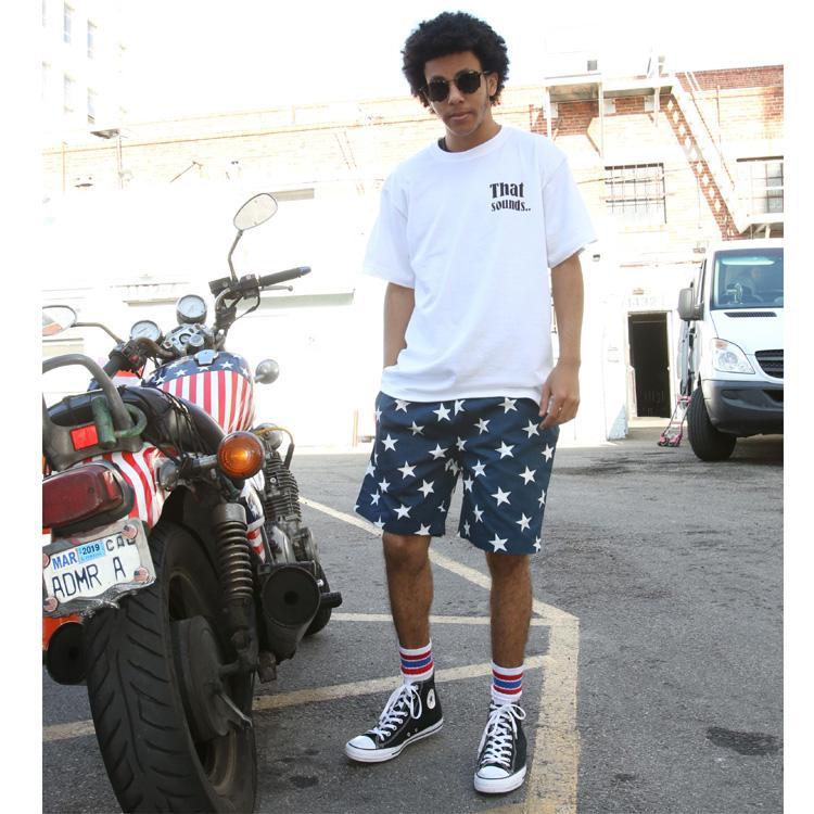 Chef Short Pants 「Star」 Navy