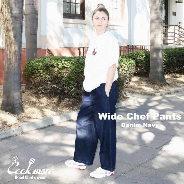 ワイドシェフパンツ Wide Chef Pants Denim Navy