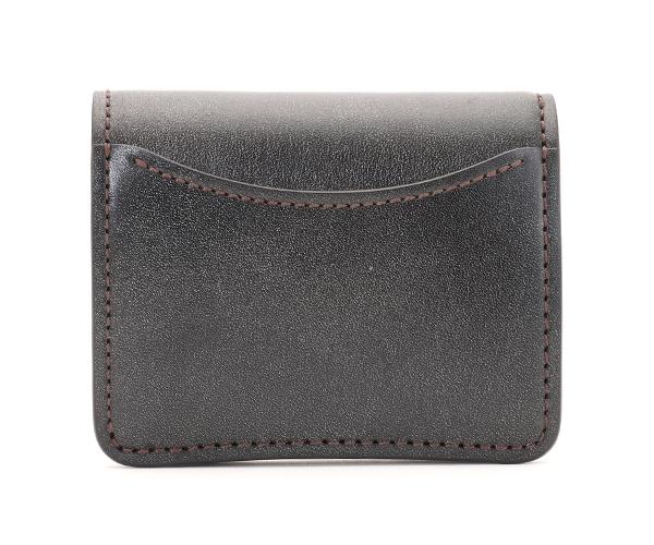 【選べるノベルティ付】ワイルドスワンズ フルグレインブライドル パーム ミニ財布(カラー:ブラック)FULL GRAIN BRIDLE PALM WILD SWANS