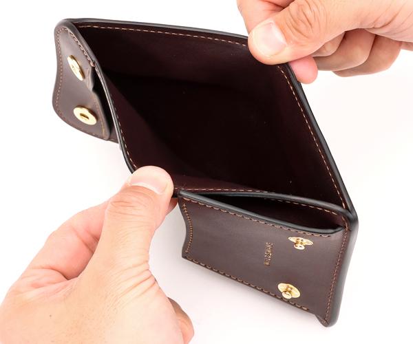 【選べるノベルティ付】ワイルドスワンズ×クールキャット シェルコードバン パーム ミニ財布 (カラー:チョコミント)