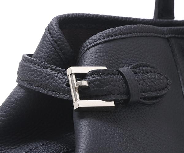 【選べるノベルティ付】ワイルドスワンズ シュランケンカーフ ドラッカー トートバッグS(カラー:ブラック)SHRUNKEN CALF DRUCKER WILD SWANS