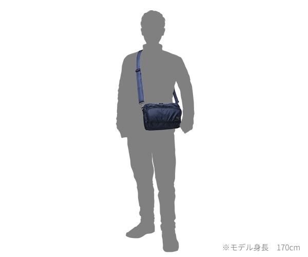 【選べるノベルティ付】 ポーター フラッシュ 横型ショルダーバッグ(カラー:ネイビー)689-05949 吉田カバン PORTER FLASH