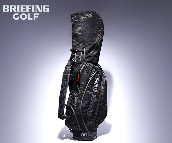 【選べるノベルティ付】 ブリーフィング BRIEFING ゴルフ/キャディバッグ CR-5 #02(カラー:マルチカモブラック)BRG201D02