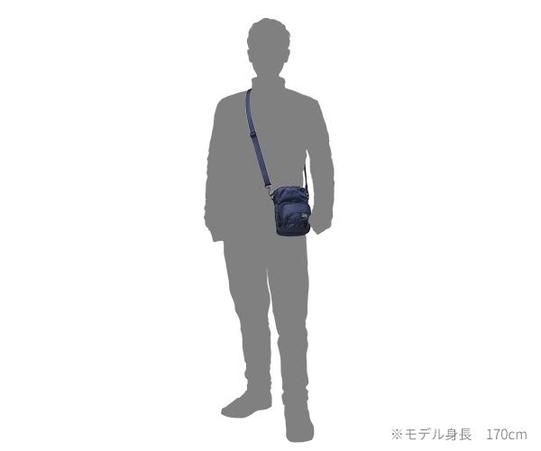 【選べるノベルティ付】 ポーター フラッシュ 縦型ショルダーバッグ(カラー:ネイビー)689-05950 吉田カバン PORTER FLASH