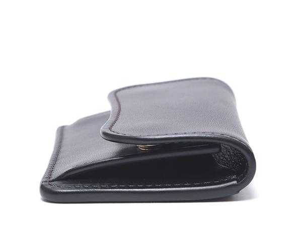 【選べるノベルティ付】ワイルドスワンズ イングリッシュブライドル タング コインケース(カラー:ブラック) ENGLISH BRIDLE WILD SWANS