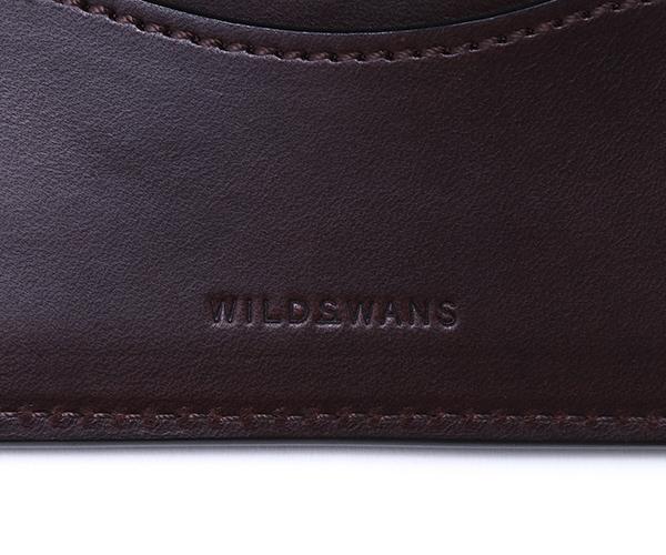 【選べるノベルティ付】ワイルドスワンズ イングリッシュブライドル プリム ミニ財布(カラー:ダークブラウン) ENGLISH BRIDLE PRIM WILD SWANS
