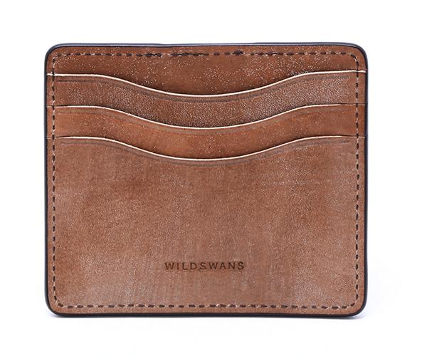【選べるノベルティ付】ワイルドスワンズ フルグレインブライドル ミニマル マネークリップ(カラー:ダークステイン) FULL GRAIN BRIDLE WILD SWANS