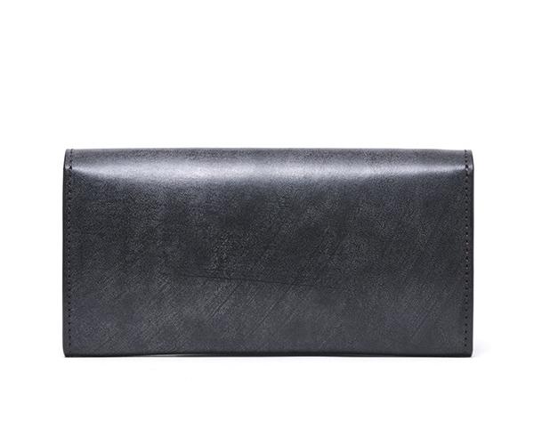 【選べるノベルティ付】ワイルドスワンズ フルグレインブライドル ウェイブ 長財布(カラー:ブラック)FULL GRAIN BRIDLE WAVE WILD SWANS