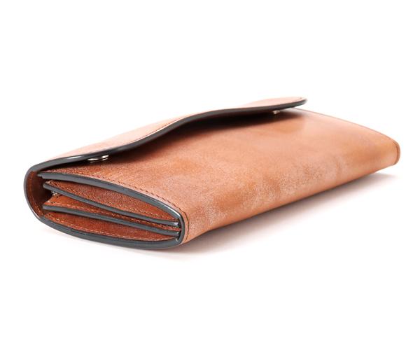 【選べるノベルティ付】ワイルドスワンズ フルグレインブライドル ウェイブ 長財布(カラー:ダークステイン)FULL GRAIN BRIDLE WAVE WILD SWANS