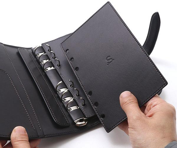 【選べるノベルティ付】ワイルドスワンズ イングリッシュブライドル バイブル システムバインダー(カラー:ブラック)ENGLISH BRIDLE BIBLE WILD SWANS
