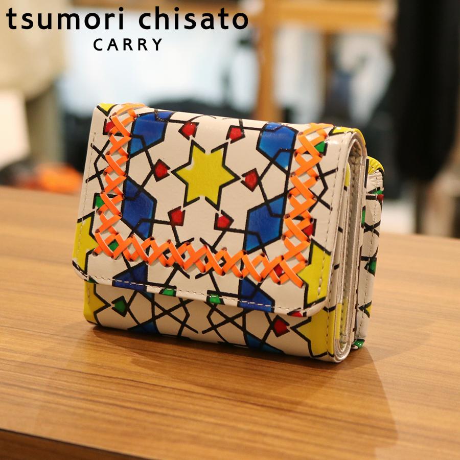 【選べるノベルティ付】tsumori chisato ツモリチサト ハンドクロスステッチ  ミニ財布(カラー:ホワイト)57585