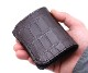 【選べるノベルティ付】ワイルドスワンズ クロコダイル パーム ミニ財布(カラー:チョコ)WILD SWANS