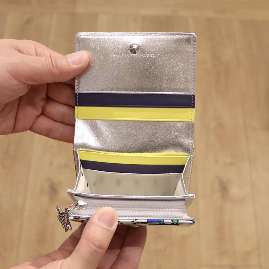 【選べるノベルティ付】tsumori chisato ツモリチサト ハンドクロスステッチ  折財布(カラー:ホワイト)57586