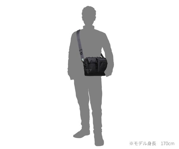 【選べるノベルティ付】 ポーター ユニット 横型ショルダーバッグ(カラー:ブラック)784-05464 吉田カバン PORTER UNIT