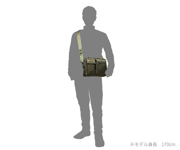 【選べるノベルティ付】 ポーター ユニット 横型ショルダーバッグ(カラー:カーキ)784-05464 吉田カバン PORTER UNIT