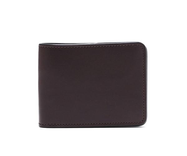 【選べるノベルティ付】ワイルドスワンズ イングリッシュブライドル ウィングス 二つ折り財布(カラー:ダークブラウン) ENGLISH BRIDLE WINGS WILD SWANS