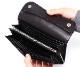 【選べるノベルティ付】ワイルドスワンズ イングリッシュブライドル ウェイブ 長財布(カラー:ブラック) ENGLISH BRIDLE WAVE WILD SWANS