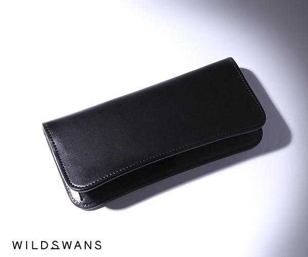 【選べるノベルティ付】ワイルドスワンズ イングリッシュブライドル サーフス1 長財布(カラー:ブラック) ENGLISH BRIDLE SURFS1 WILD SWANS