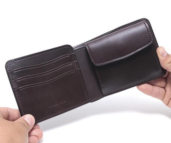 【選べるノベルティ付】ワイルドスワンズ イングリッシュブライドル グラウンダー 二つ折り財布(カラー:ダークブラウン) ENGLISH BRIDLE WILD SWANS