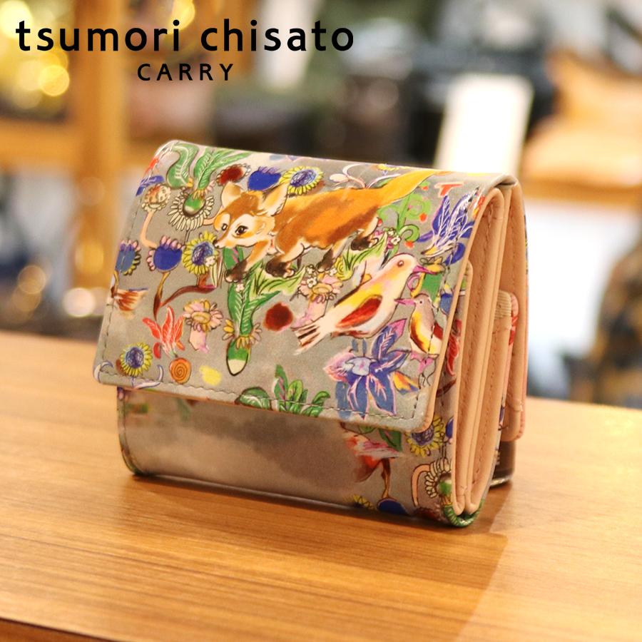 【選べるノベルティ付】 tsumori chisato ツモリチサト ガーデン ミニ財布 (カラー:ピンク) 57550