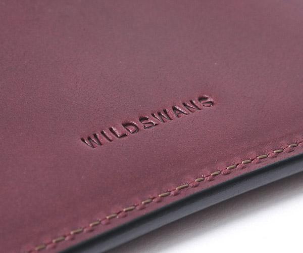 【選べるノベルティ付】ワイルドスワンズ イングリッシュブライドル サーフス1 長財布(カラー:バーガンディ) ENGLISH BRIDLE WILD SWANS