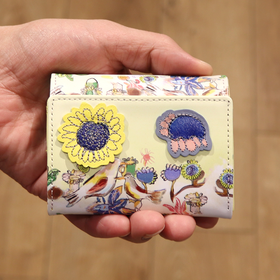 【選べるノベルティ付】 tsumori chisato ツモリチサト ガーデン ミニ財布 (カラー:グリーン) 57550