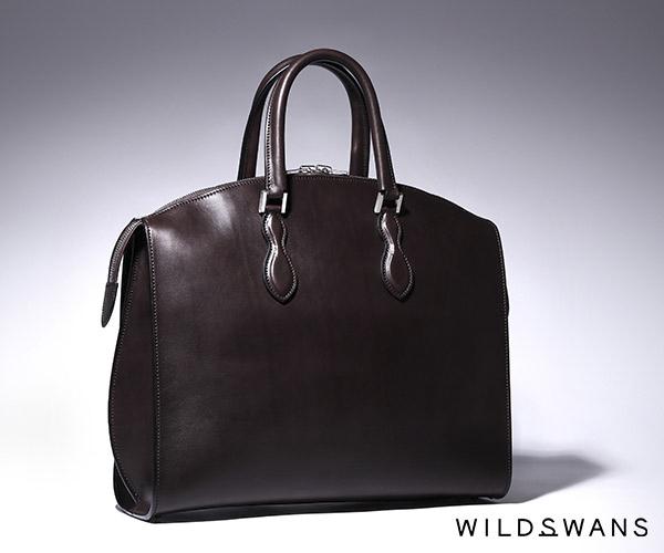 【選べるノベルティ付】ワイルドスワンズ イングリッシュブライドル サーキュロ ビジネスバッグ(カラー:ダークブラウン)ENGLISH BRIDLE CIRCULO WILD SWANS