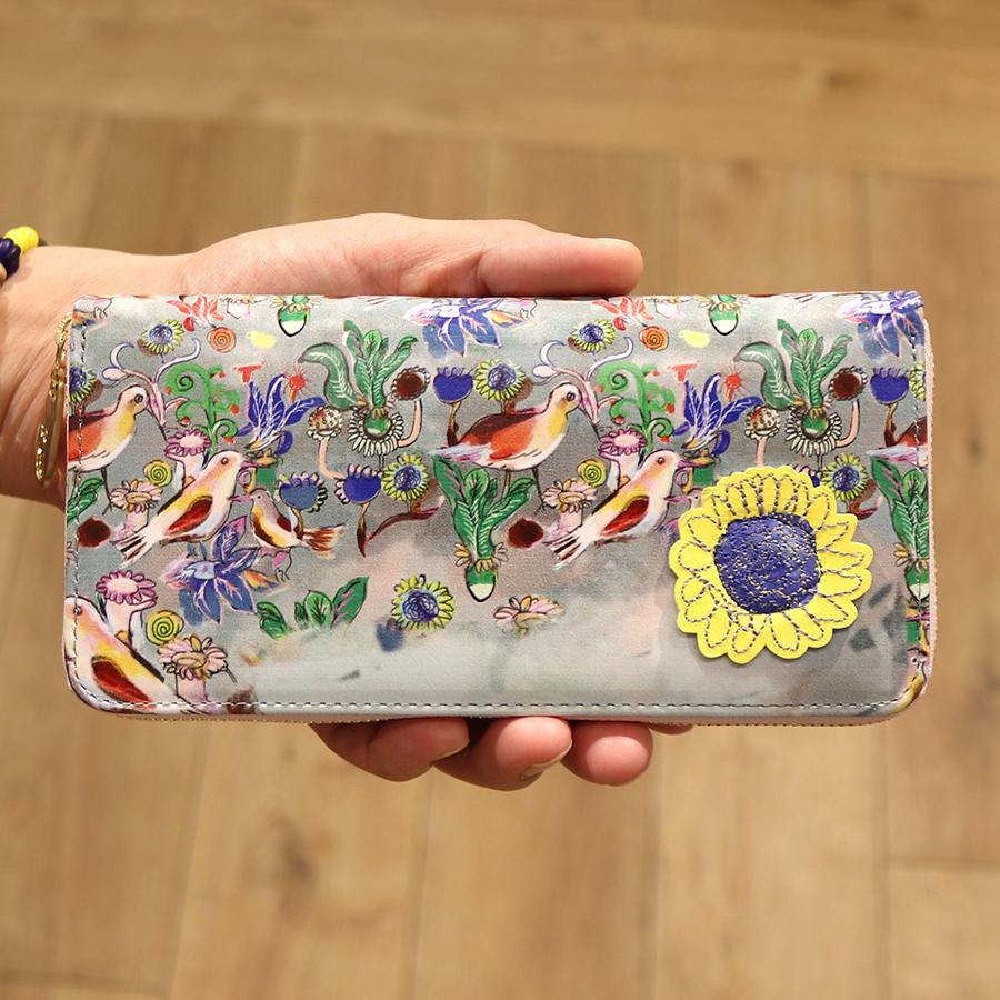 【選べるノベルティ付】 tsumori chisato ツモリチサト ガーデン ラウンド長財布 (カラー:ピンク) 57552