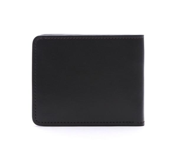 【選べるノベルティ付】ワイルドスワンズ イングリッシュブライドル グラウンダー 二つ折り財布(カラー:ブラック) ENGLISH BRIDLE WILD SWANS