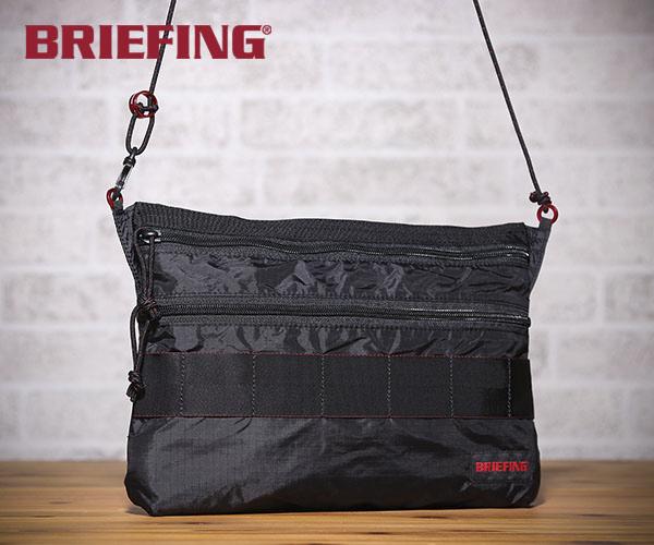 【選べるノベルティ付】 ブリーフィング BRIEFING サコッシュ SACOCHE M SL PACKABLE(カラー:ブラック)BRM181205