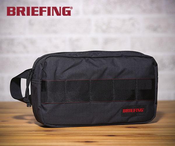 【選べるノベルティ付】 ブリーフィング BRIEFING ポーチ ONE ZIP POUCH MW(カラー:ブラック)BRM181611