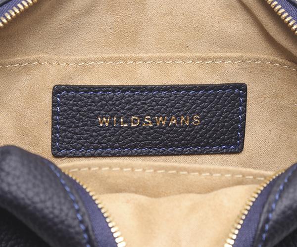 【選べるノベルティ付】ワイルドスワンズ シュランケンカーフ リュエル ミニポーチ(カラー:ネイビー) RUELLE WILDSWANS