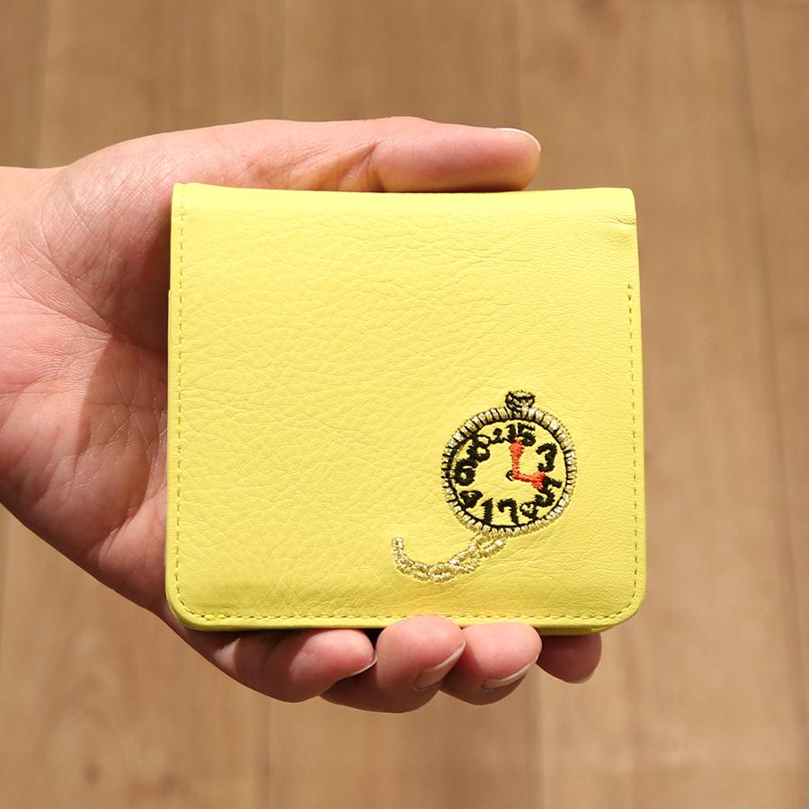 【選べるノベルティ付】 tsumori chisato ツモリチサト エンブロイダリー 折財布 (カラー:イエロー) 57597