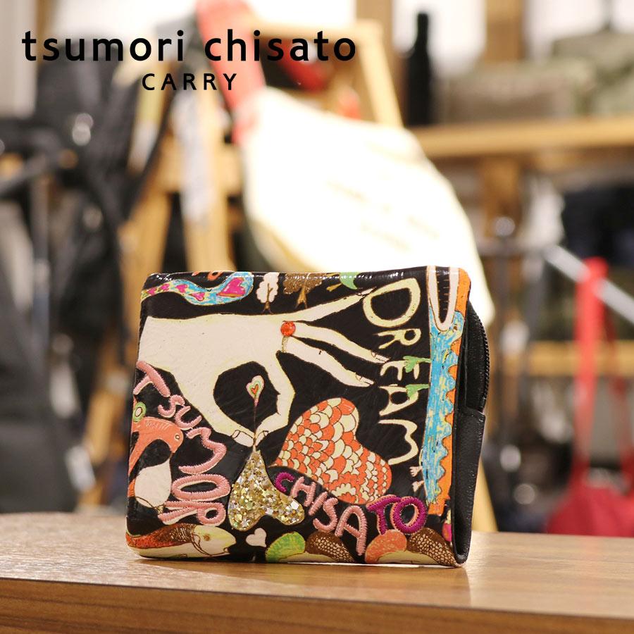 【選べるノベルティ付】 tsumori chisato ツモリチサト ハッピースタッフ ミニ財布 (カラー:ブラック) 57526