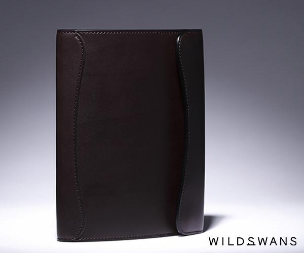 【選べるノベルティ付】ワイルドスワンズ イングリッシュブライドル オウル B6 ノートカバー(カラー:ダークブラウン) ENGLISH BRIDLE OWL-B6 WILD SWANS