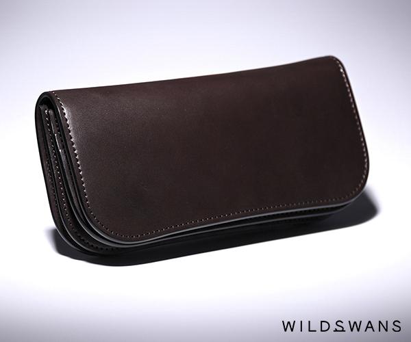 【選べるノベルティ付】ワイルドスワンズ イングリッシュブライドル ブリスターL 長財布(カラー:ダークブラウン)ENGLISH BRIDLE BLISTER-L WILD SWANS