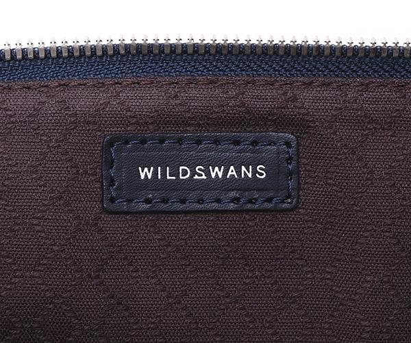 【選べるノベルティ付】ワイルドスワンズ モンパルナス フラット L ポーチ(カラー:ネイビー)MONTPARNASSE FLAT  WILD SWANS