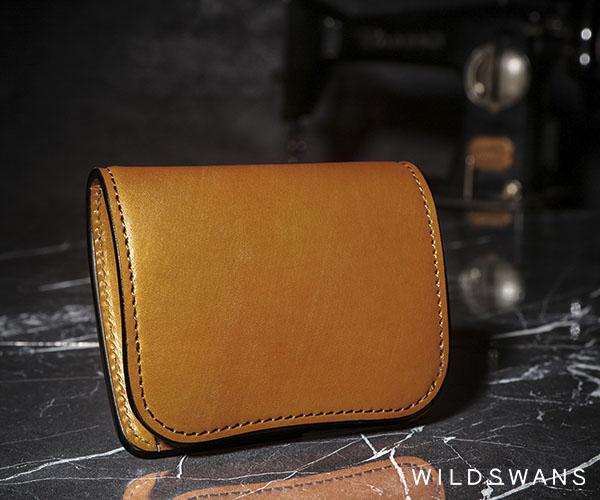 【選べるノベルティ付】ワイルドスワンズ フルグレインブライドル パーム ミニ財布(カラー:ロンドンカラー )FULL GRAIN BRIDLE PALM WILD SWANS