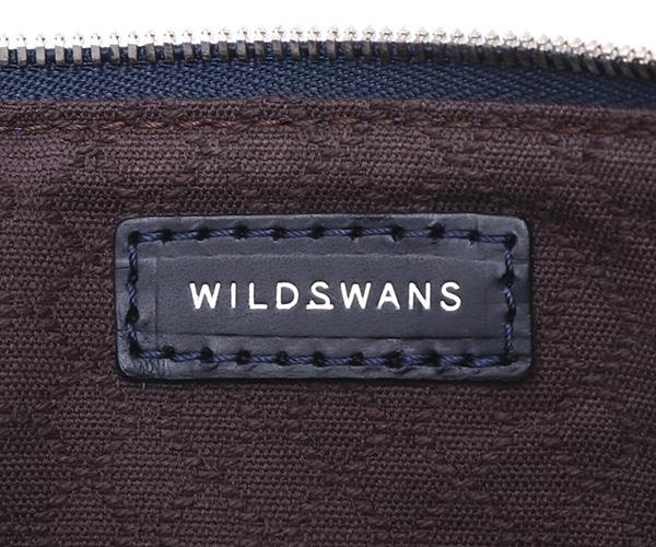 【選べるノベルティ付】ワイルドスワンズ モンパルナス フラット M ポーチ(カラー:ネイビー)MONTPARNASSE FLAT  WILD SWANS