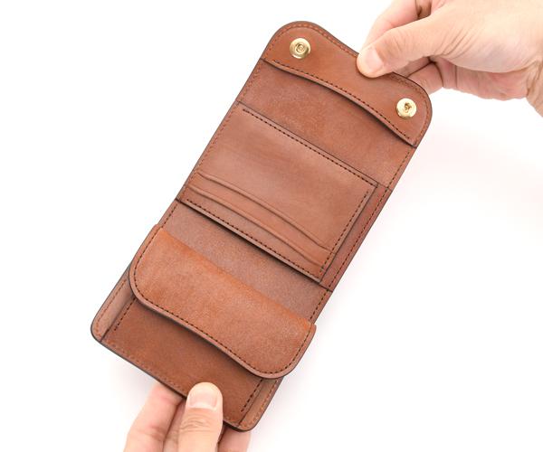 【選べるノベルティ付】ワイルドスワンズ フルグレインブライドル イーノ 3つ折り財布(カラー:ダークステイン) FULL GRAIN BRIDLE ENO WILD SWANS