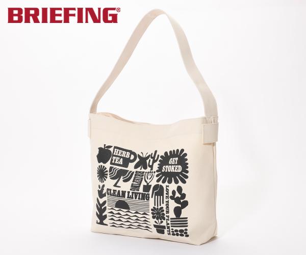 【選べるノベルティ付】ブリーフィング BRIEFING ショルダーバッグ FOOD TEXTILE BUCKET(カラー:アイボリー)BRL211L07