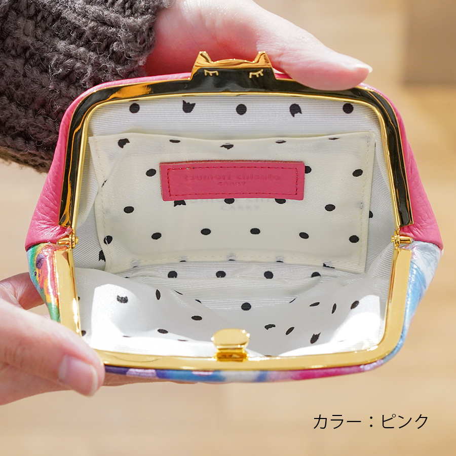 【選べるノベルティ付】tsumori chisato ツモリチサト ドットフラワーネコ コインケース (カラー:ピンク) 57813