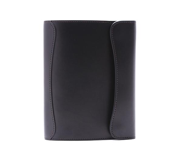 【選べるノベルティ付】ワイルドスワンズ イングリッシュブライドル オウル B6 ノートカバー(カラー:ブラック) ENGLISH BRIDLE OWL-B6 WILD SWANS