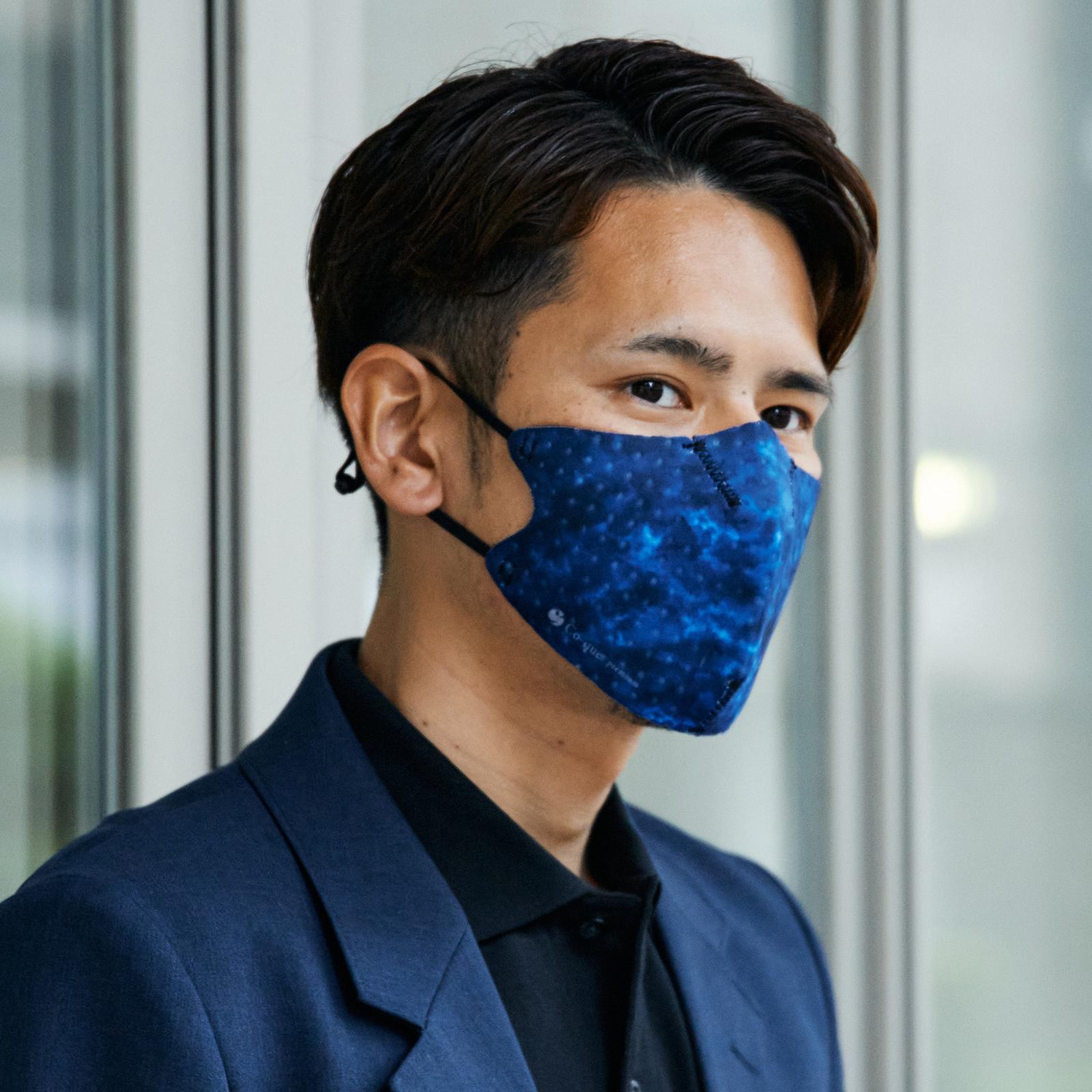 【単色購入】呼吸 Co-que プレミアム ブラック&ブルー カモフラージュ