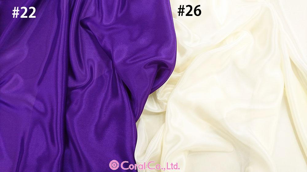 パールシフォン<100098> 112cm幅<br>軽くてしなやか光沢感もありダンス衣裳には最適。 <br>※一部廃色  反買いがお得です。