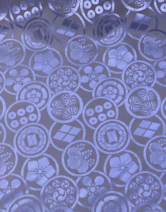 120105<br>カモーン!<br>生地 布地 布 無地 サテン ジャガード 衣装 コスプレ コスチューム ステージ 多色 日本製 家紋柄 戦国 UVカット和柄